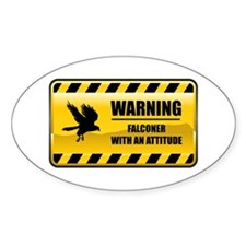 Warning Falconer Oval Decal