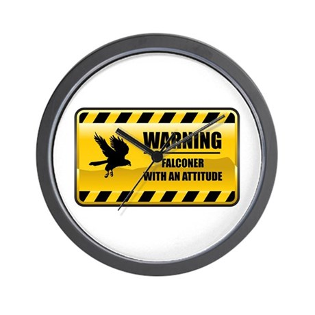 Warning Falconer Wall Clock