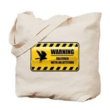 Warning Falconer Tote Bag