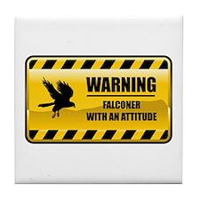 Warning Falconer Tile Coaster