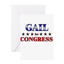 GAIL for congress Greeting Card