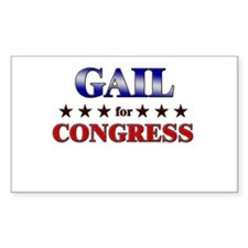 GAIL for congress Rectangle Decal