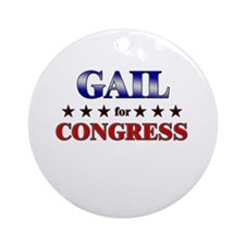 GAIL for congress Ornament (Round)