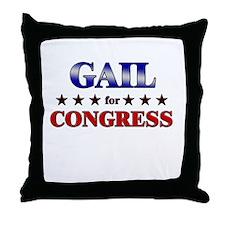 GAIL for congress Throw Pillow