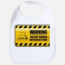 Warning Factory Worker Bib