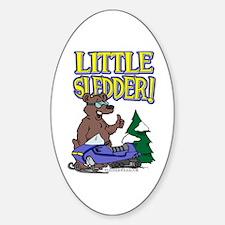 Little Sledder Oval Decal