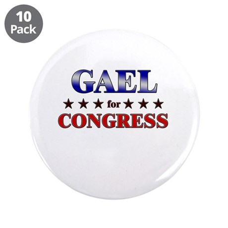 """GAEL for congress 3.5"""" Button (10 pack)"""
