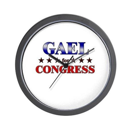 GAEL for congress Wall Clock