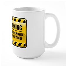 Warning Euphonium Player Mug