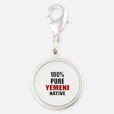 100 % Pure Yemeni Native Silver Round Charm