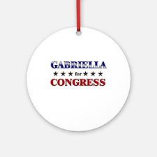 GABRIELLA for congress Ornament (Round)