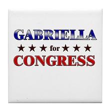 GABRIELLA for congress Tile Coaster