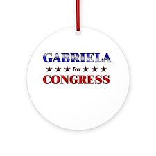 GABRIELA for congress Ornament (Round)