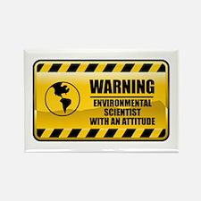 Warning Environmental Scientist Rectangle Magnet