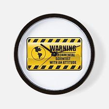Warning Environmental Scientist Wall Clock