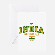 IN India Indian Cricket Greeting Card