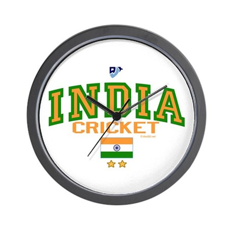 IN India Indian Cricket Wall Clock