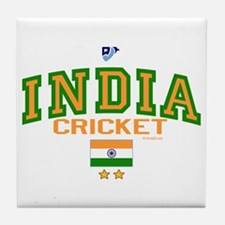 IN India Indian Cricket Tile Coaster