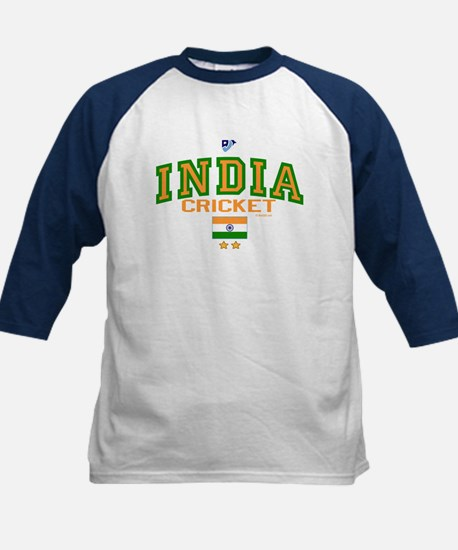 IN India Indian Cricket Kids Baseball Jersey