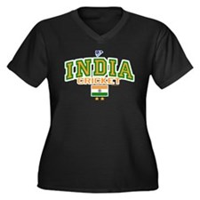 IN India Indian Cricket Women's Plus Size V-Neck D