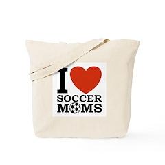 I Love Soccer Moms Tote Bag
