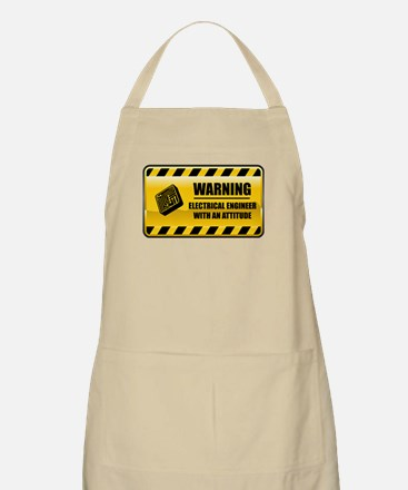 Warning Electrical Engineer BBQ Apron