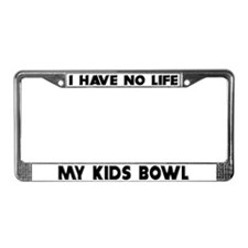 My Kids Bowl License Plate Frame
