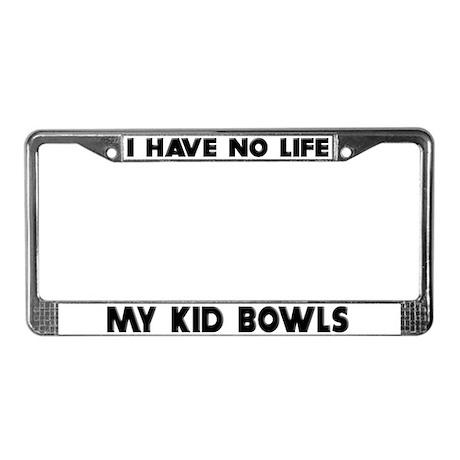 My Kid Bowls License Plate Frame