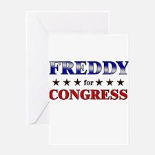FREDDY for congress Greeting Card