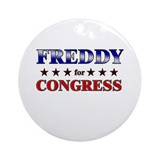 FREDDY for congress Ornament (Round)
