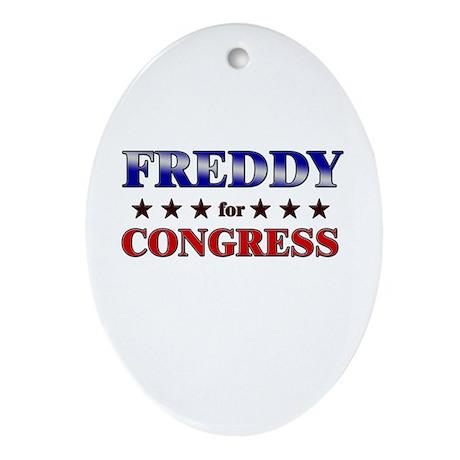 FREDDY for congress Oval Ornament