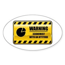 Warning Economist Oval Decal