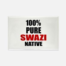 100 % Pure Swazi Native Rectangle Magnet