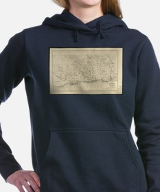 Vintage Map of Toronto C Women's Hooded Sweatshirt