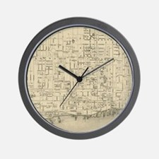 Vintage Map of Toronto Canada (1880) Wall Clock
