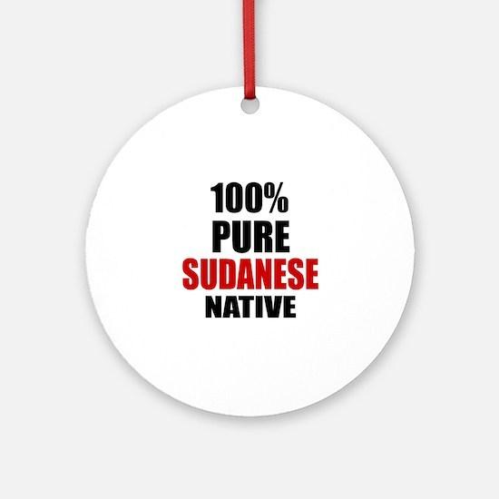 100 % Pure Sudanese Native Round Ornament
