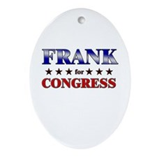 FRANK for congress Oval Ornament