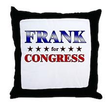 FRANK for congress Throw Pillow