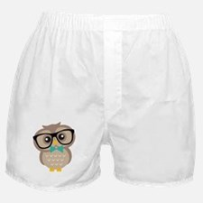 Cute Hipster Owl Boxer Shorts