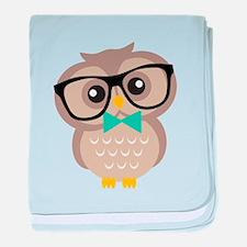 Cute Hipster Owl baby blanket
