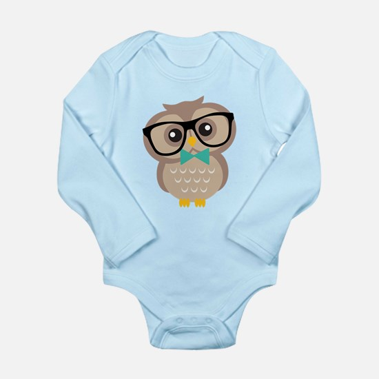 Cute Hipster Owl Body Suit