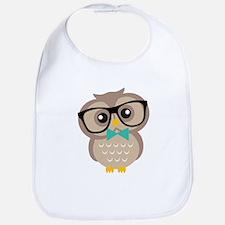Cute Hipster Owl Bib