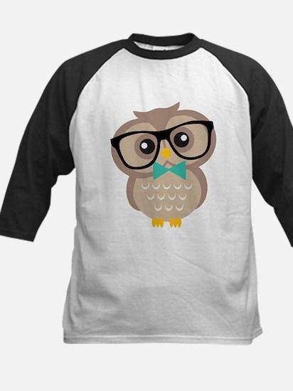 Cute Hipster Owl Baseball Jersey