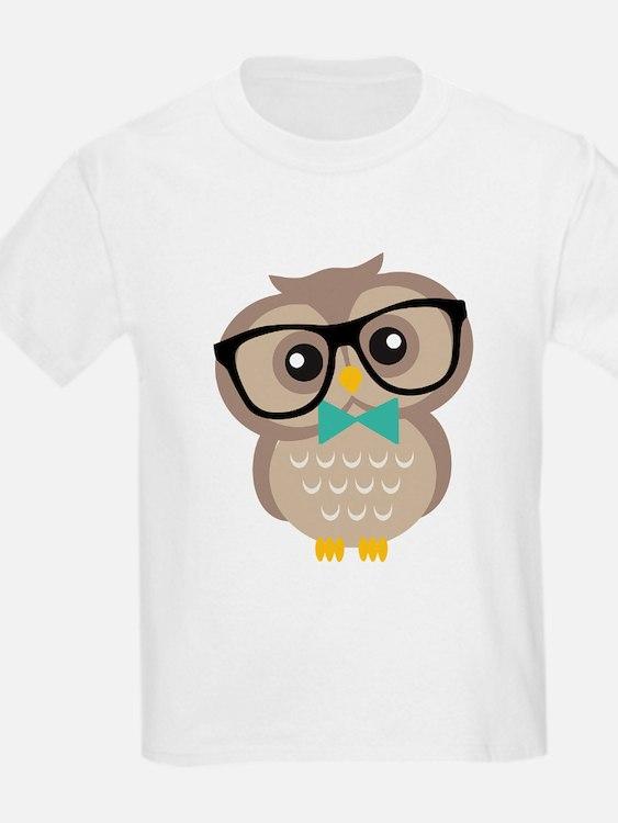Cute Hipster Owl T-Shirt