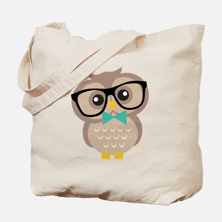 Cute Hipster Owl Tote Bag