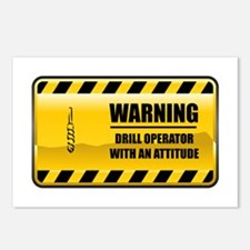 Warning Drill Operator Postcards (Package of 8)