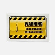 Warning Drill Operator Rectangle Magnet