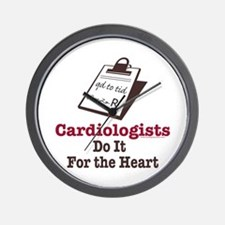 Funny Doctor Cardiologist Cardiology Wall Clock