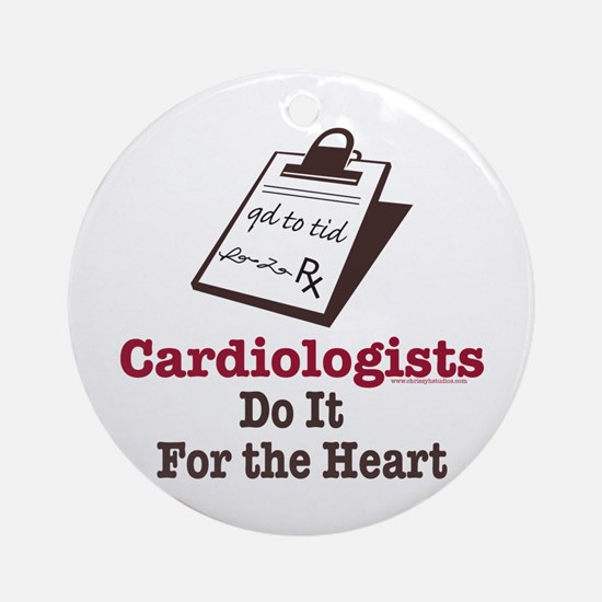 Funny Doctor Cardiologist Cardiology Ornament (Rou