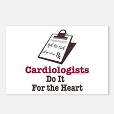 Funny Doctor Cardiologist Cardiology Postcards (Pa